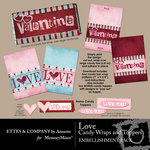 Love Candy Wraps and Topper Printables-$1.50 (Ettes and Company by Annette)