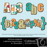 Celebrate Alphabet Pack Ettes-$2.50 (Ettes and Company by Fayette)
