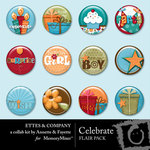 Celebrate Flair Pack Ettes-$1.99 (Fayette Designs)