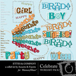 Celebrate WordArt Ettes-$1.49 (Fayette Designs)