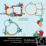 Celebrate Frame Clusters Ettes-$1.49 (Ettes and Company by Fayette)
