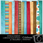 Celebrate Paper Pack Ettes-$3.99 (Ettes and Company by Fayette)