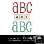 Family Night Alphabet Pack-$1.20 (Carolyn Kite)