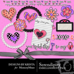 Serendipity DK Embellishment Pack-$2.49 (Designs by Krista)