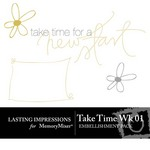 Take Time Wk 01 Embellishment Pack-$0.00 (Lasting Impressions)