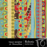 Robotic Patterned Paper Pack-$3.99 (Traci Murphy)