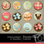 Favorite Faces Flair Pack-$1.49 (Ettes and Company by Fayette)