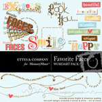 Favorite faces wordart small