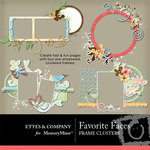 Favorite Faces Frame Cluster Pack-$1.99 (Ettes and Company by Fayette)