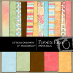 Favorite Faces Paper Pack-$3.99 (Ettes and Company by Fayette)