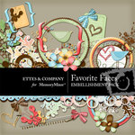 Favorite Faces Embellishment Pack-$3.49 (Ettes and Company by Fayette)