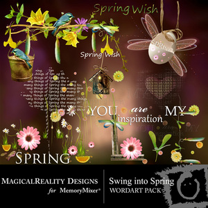 Swing into spring wordart medium
