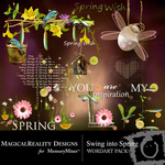 Swing into spring wordart small