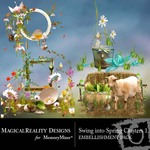 Swing into Spring Cluster Embellishment Pack 1-$1.49 (MagicalReality Designs)