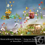 Swing into Spring Cluster Embellishment Pack 2-$1.49 (MagicalReality Designs)