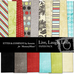 Live Laugh Love Paper Pack-$3.99 (Ettes and Company by Annette)