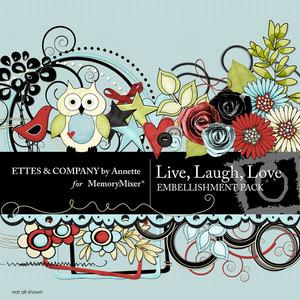 Live laugh love emb medium