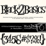 Black 2 Basics Alphabet Pack-$1.00 (Ettes and Company by Fayette)