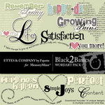 Black 2 Basics WordArt Pack-$1.49 (Ettes and Company by Fayette)