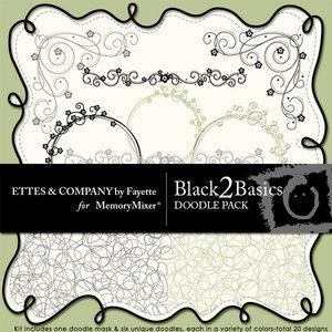 Black 2 basics doodles medium