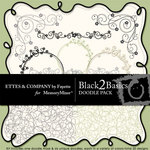 Black 2 Basics Doodle Pack-$1.49 (Ettes and Company by Fayette)