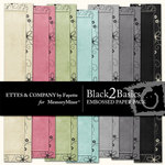 Black 2 Basics Embossed Paper Pack-$1.75 (Ettes and Company by Fayette)
