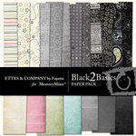 Black 2 Basics Paper Pack-$3.99 (Fayette Designs)