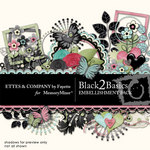 Black 2 Basics Embellishment Pack-$1.75 (Ettes and Company by Fayette)