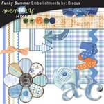 Funky Summer Embellishments-$3.50 (Bisous By Suzanne Carillo)