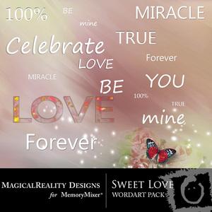Sweet love wordart medium