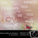 Sweet Love WordArt-$0.50 (MagicalReality Designs)