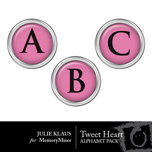 Tweet heart alpha medium