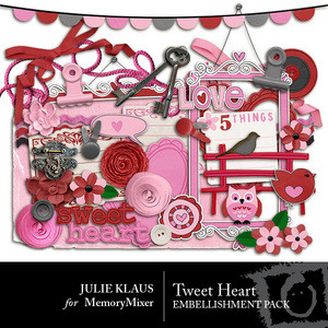 Tweet heart emb medium