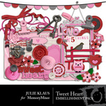 Tweet Heart Embellishment Pack-$2.99 (Julie Klaus)