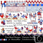 Patriotic Poultry Embellishment Pack-$1.25 (Tara Reed Designs)