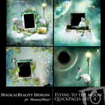 Flying to the Moon Quick Page QuickMix Set 4-$3.49 (MagicalReality Designs)