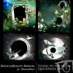 Flying to the Moon Quick Page QuickMix Set 3-$3.49 (MagicalReality Designs)