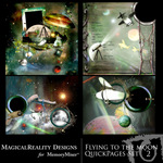 Flying to the Moon Quick Page QuickMix Set 2-$3.49 (MagicalReality Designs)