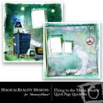 Flying to the Moon Quick Page QuickMix Freebie-$0.00 (MagicalReality Designs)