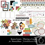 Having a Laugh Embellishment Pack-$2.99 (Karen Lewis)