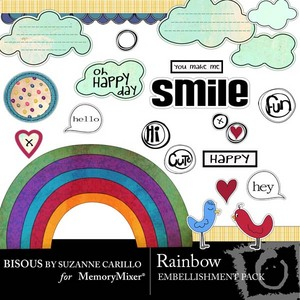 Rainbow emb medium