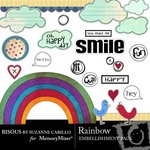 Rainbow Embellishment Pack-$2.49 (Bisous By Suzanne Carillo)