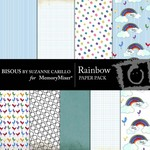 Rainbow Paper Pack-$3.49 (Bisous By Suzanne Carillo)