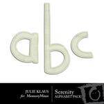 Serenity Alphabet Pack-$0.99 (Julie Klaus)