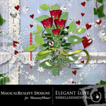 Elegant Love Embellishment Pack-$2.99 (MagicalReality Designs)