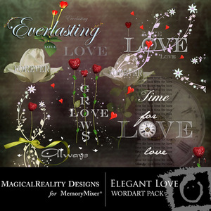 Elegant love wordart medium
