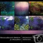 Midnight Dream Paper Pack-$2.00 (MagicalReality Designs)