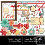 Loves in the Air Embellishment Pack-$2.99 (Paula Phillips)
