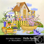 Hello Spring Embellishment Pack-$2.99 (Fly Pixel Studio)