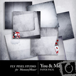 You and Me Paper Pack-$3.49 (Fly Pixel Studio)